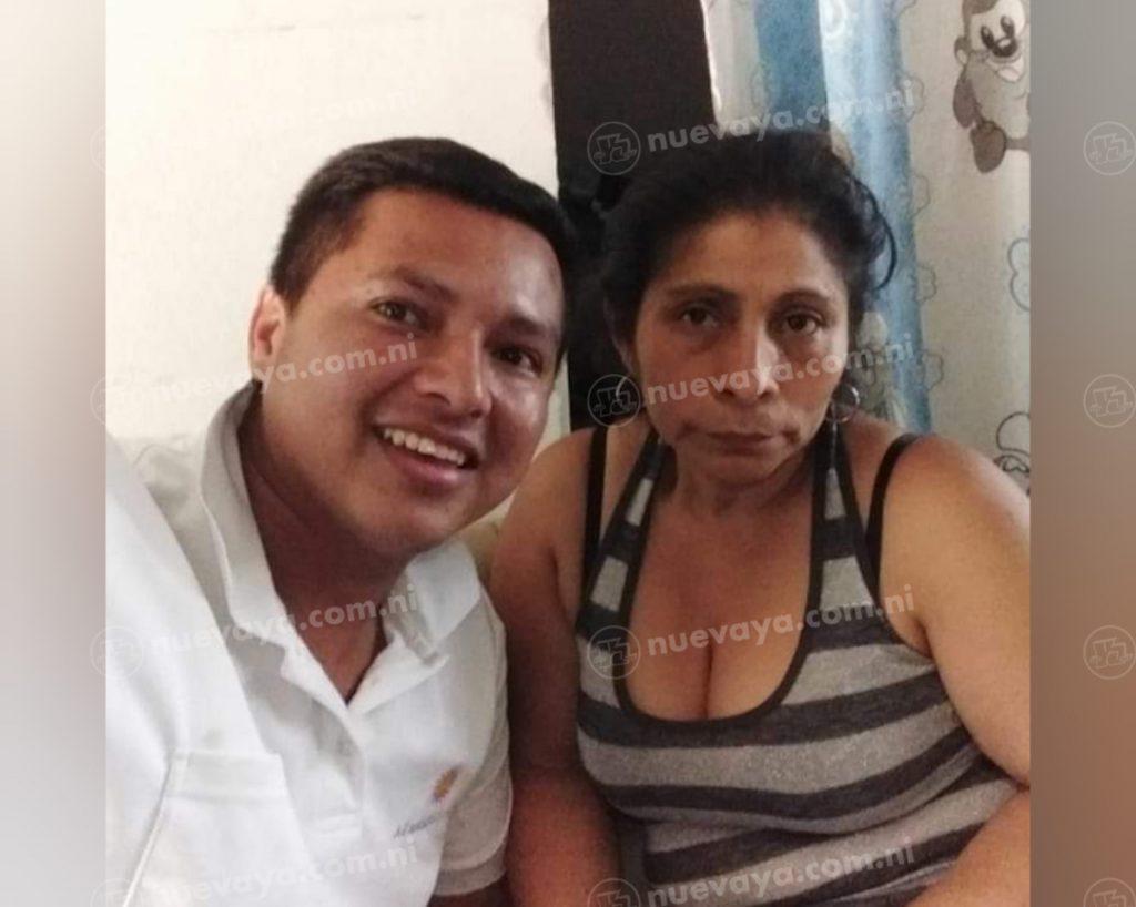 Melba Reyes Crovetto y su compañero Vilmer Antonio Romero