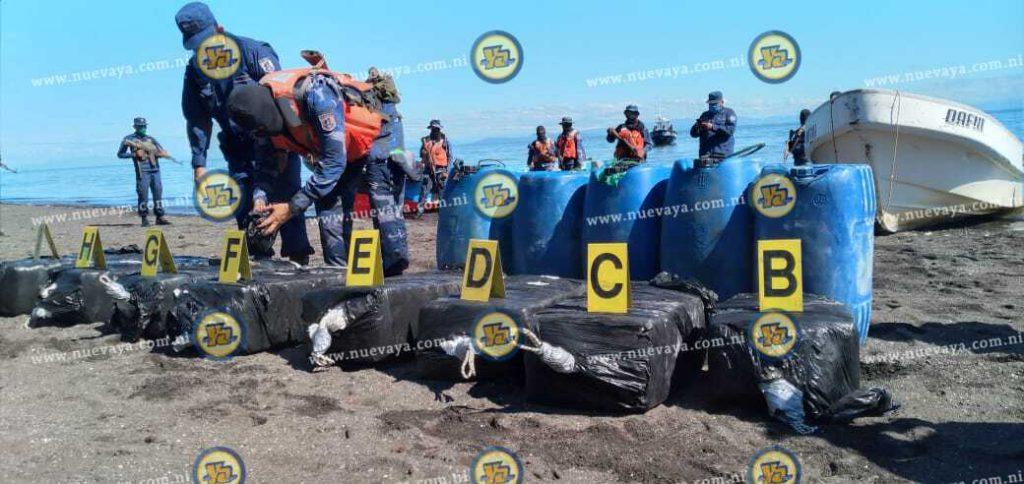Ejército de Nicaragua incauta 340 tacos de cocaína en Chinandega