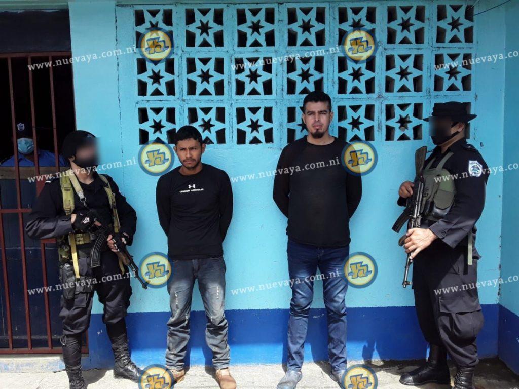 Los detenidos Iván José Lazo Herrera y Marvin José Reyes Lumbí