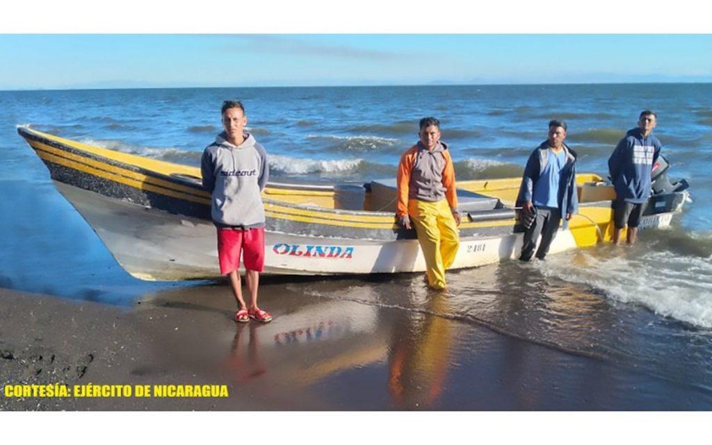 3 salvadoreños fueron capturados por pescar ilegalmente en Nicaragua