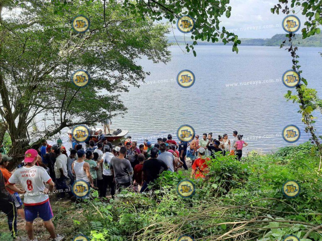 Recuperan cuerpo de pirotécnico que se ahogó en la Laguna de Masaya