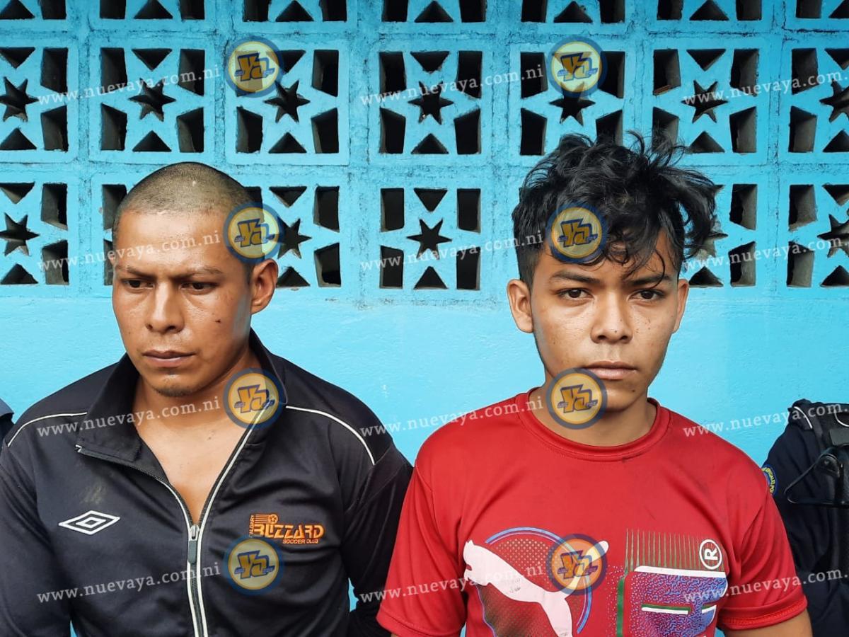 Daris Iván Carazo Merlo y Norlan Otoniel Olivas Castillo, asesinos de la comerciante jinotegana Martina Pérez Vargas