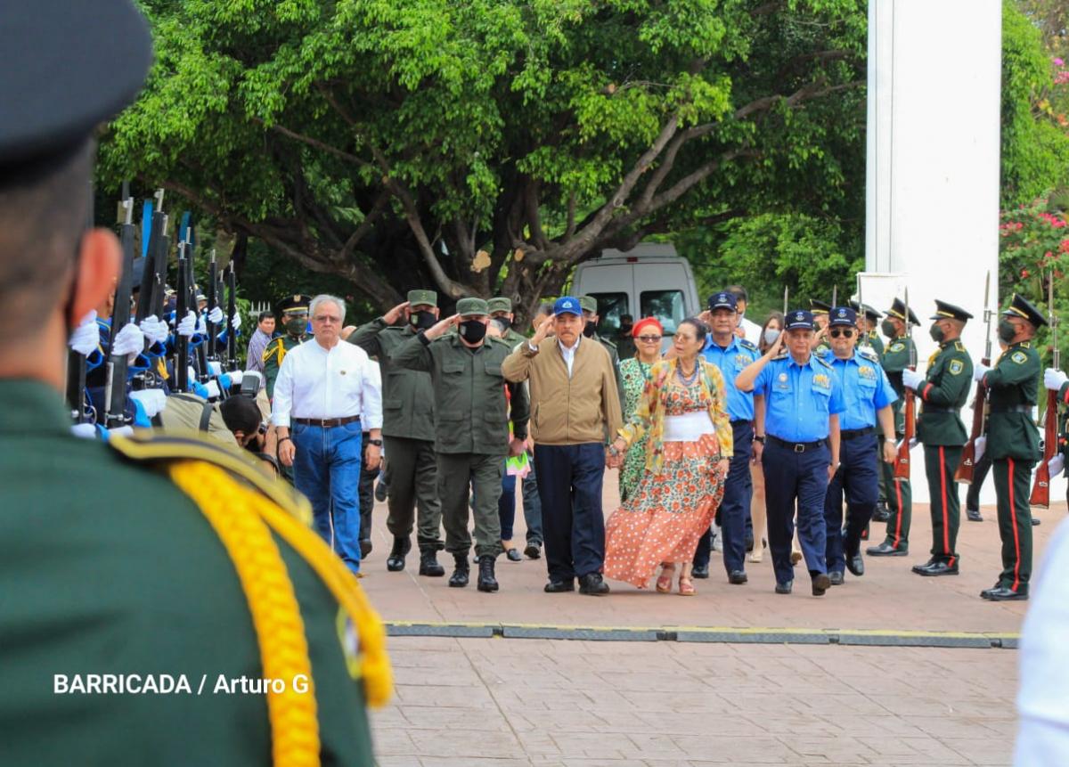 En el acto participaron varias autoridades del Gobierno de Nicaragua