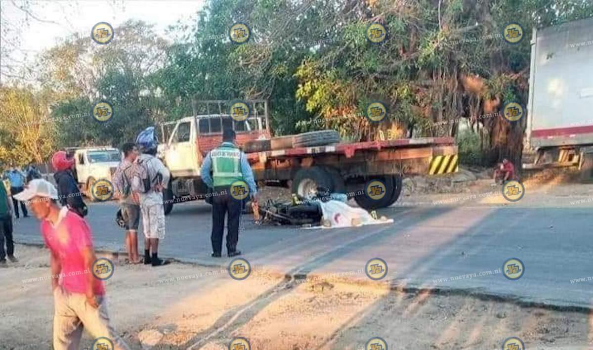 El accidente ocurrió en el kilómetro 52 de la carretera a La Boquita, en Diriamba