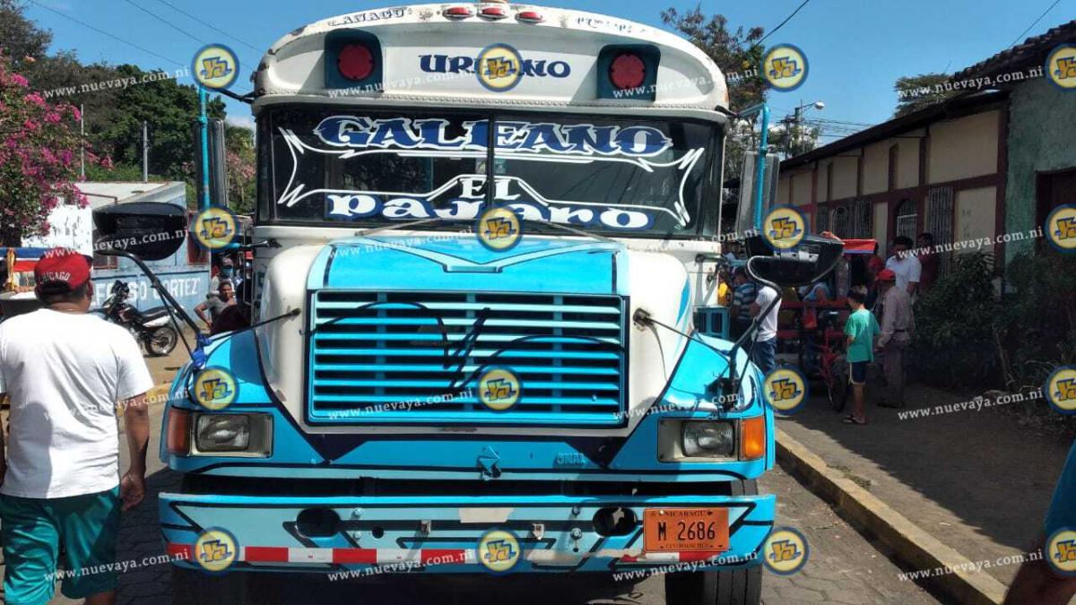 El conductor de este bus le quitó la vida a Miguel José Obando Luna