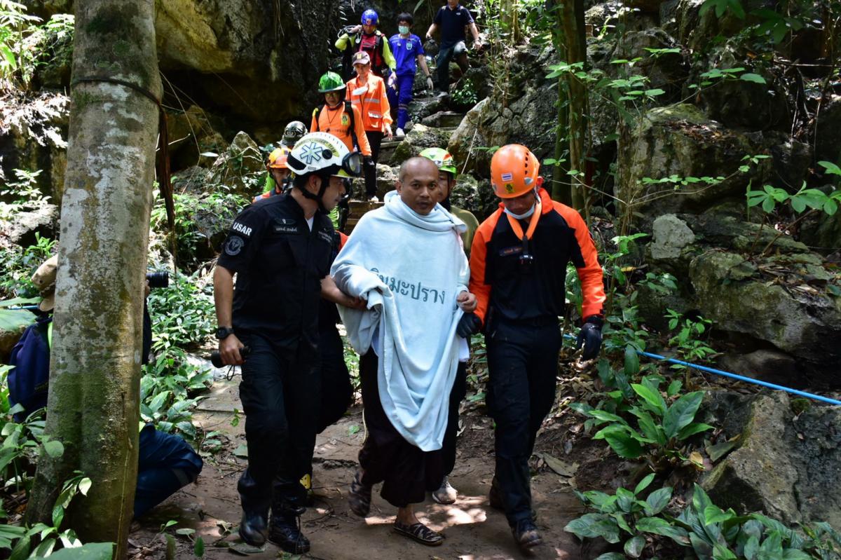 El monje budista Phra Manas rescatado en Tailandia