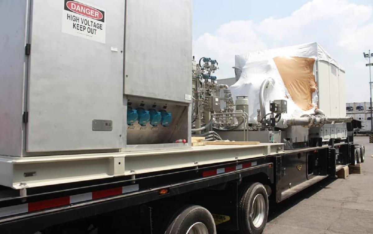 Llegan a Nicaragua primeras 5 turbinas para Planta de Gas Natural que se construirá en Puerto Sandino