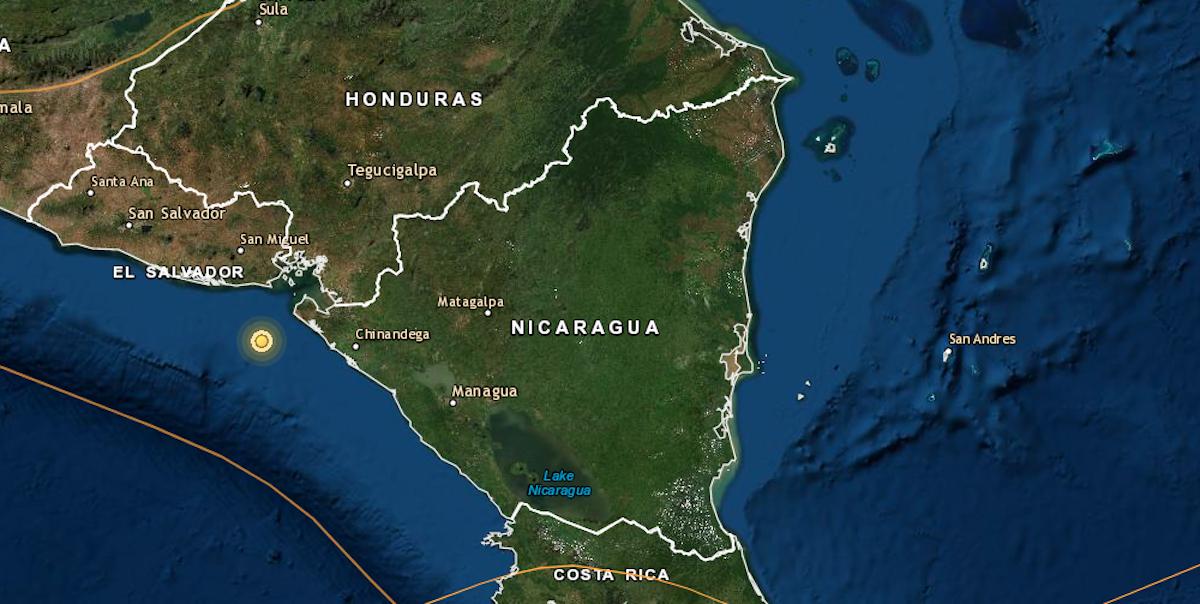 Sismo moderado sacudió Chinandega, en Nicaragua