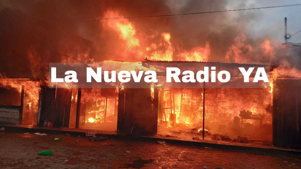 Incendio en el mercado municipal de Bilwi