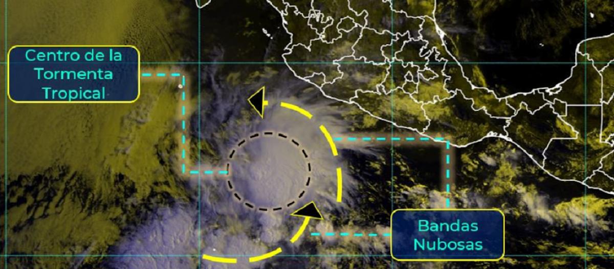 Se formó la Tormenta Tropical Andrés, antes de la temporada oficial de Huracanes 2021