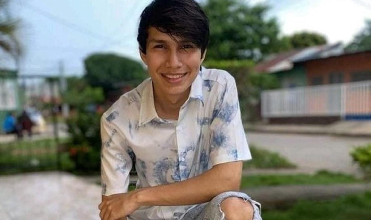 La víctima Farling José Aburto, de 21 años