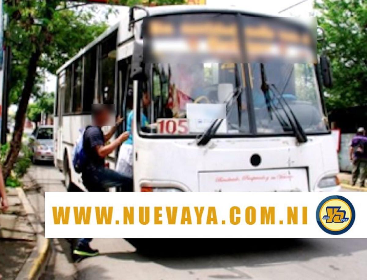 Desconocido falleció de forma súbita cuando viajaba en bus de la ruta 105 en Managua