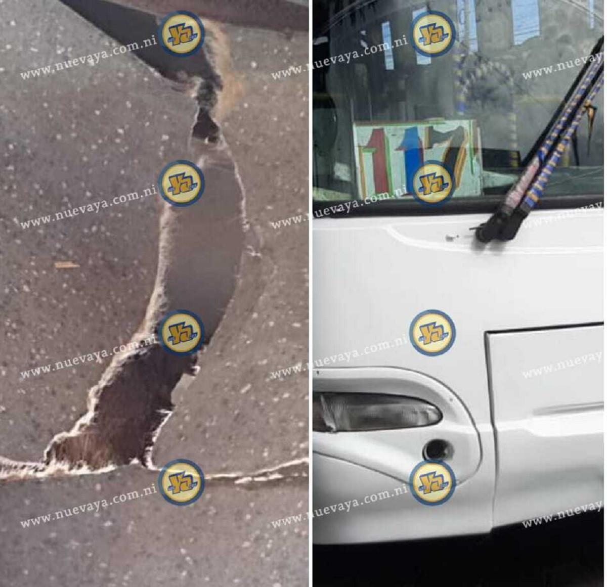Niño fallecido al caer de bus en Managua