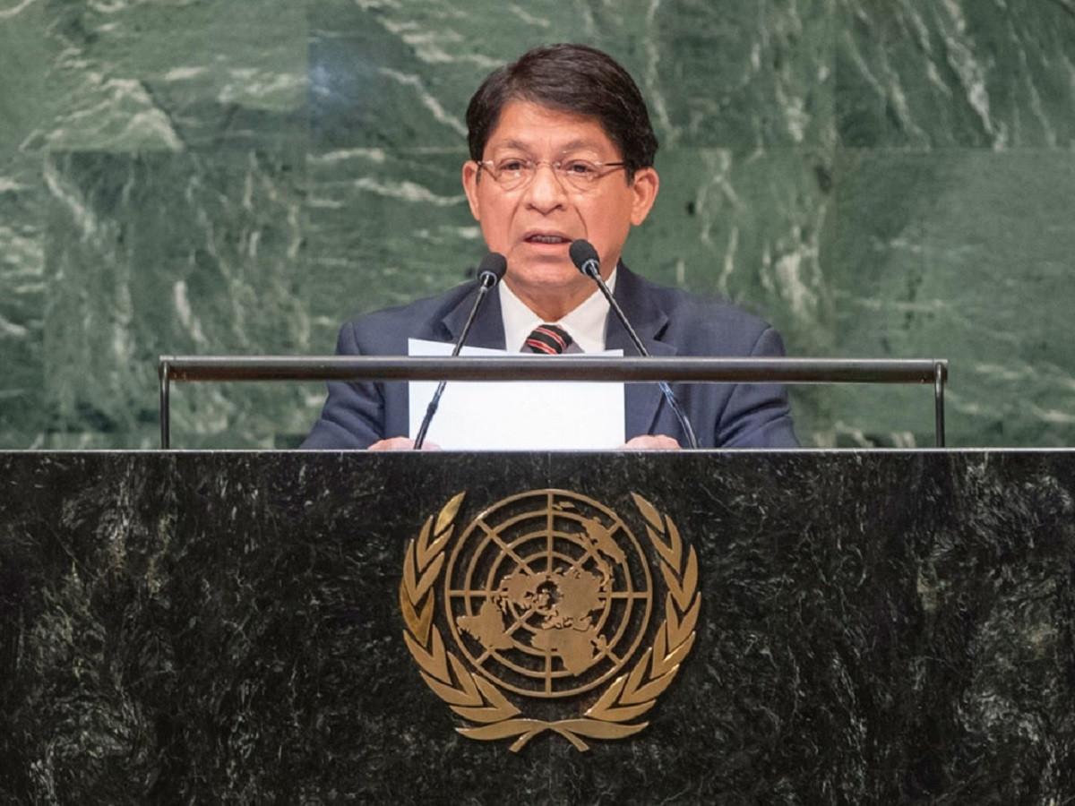 Canciller Dennis Moncada en la ONU
