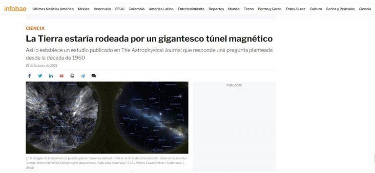 Tremendo error de Infobae: Publicó foto porno en noticia sobre túnel magnético que rodea la tierra